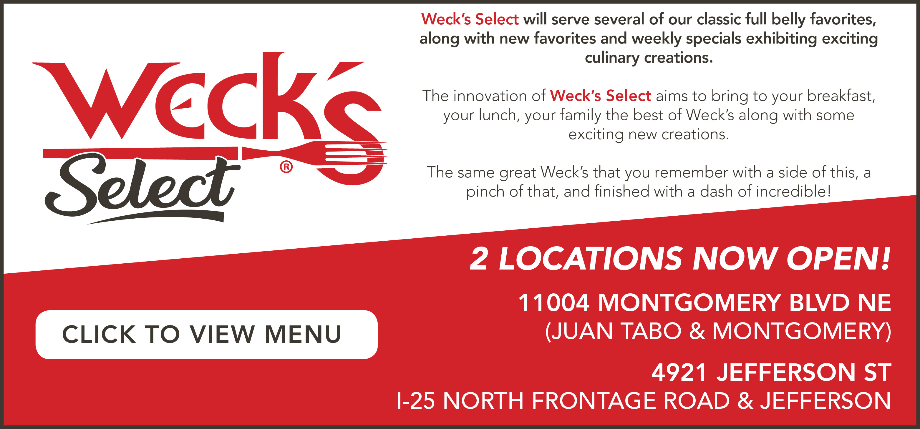 Weck's Select